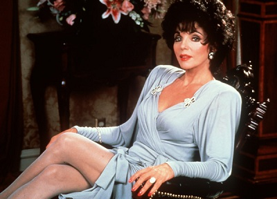 In praise of older women ... Joan Collins in her Dynasty heyday.