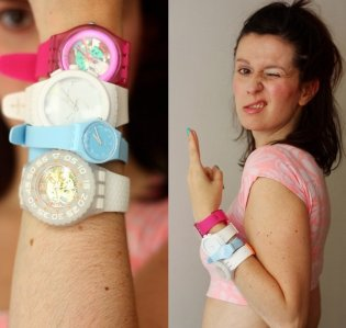 Swatch's New Gent Lacquered, Plastic Chrono, Lady Original and Scuba Libre styles pictured on the Styling Dutchman blog.