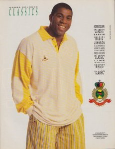 "An original Cross Colours ad with Earvin ""Magic"" Johnson"