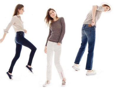 The Hightower Skinny, Slim Stacker Selvage, Cropped styles from J. Crew's Point Sur collection