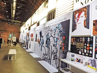 ART OF BRANDING: Kingpins' new branding show, WHY, was set up to look like an art gallery.