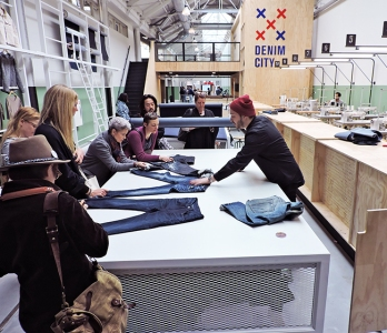 Amsterdam's Jeans School—where students learn how to design, produce and market jeans—is a partner in Denim Days.