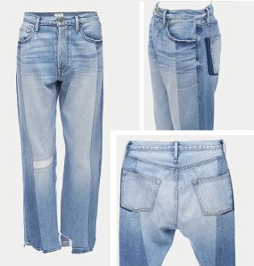 Frame's Le Mix denim is made from unworn archive pieces that have been reworked into the new style.