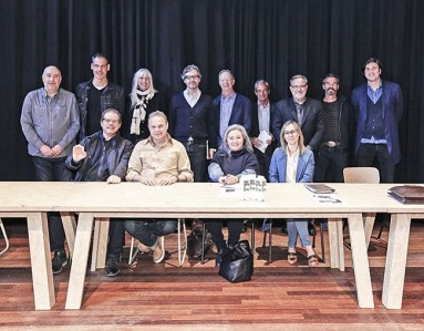 Front row: Miguel Sanchez, Andrew Olah, Haysun Hahn and Sedef Uncu Aki. Back row: Michael Kininmonth, Alberto De Conti, Mariette Hoitink, Bart Van de Woestyne, Terry Townsend, Marco Corti, Bob Antoshak, Brent Crossland and Paul Dietzsch Doertenbach (photo courtesy of Kingpins)
