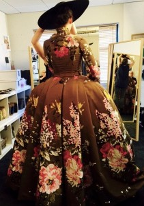 "A photo from ""Outlander"" costume designer Terry Dresbach's blog"