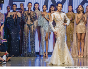 7 Designs by Elie Madi on the runway on Oct. 6 at LA Fashion Week at the Petersen Museum